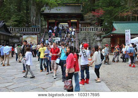 Tourists In Nikko, Japan