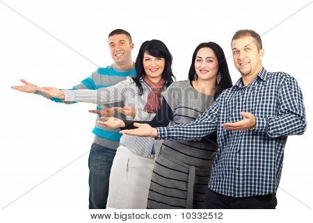 Group Of People Making Presentation