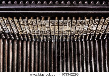 Old Typewriter Letters On Type Bar