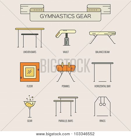 Icons With Gymnastics Symbols