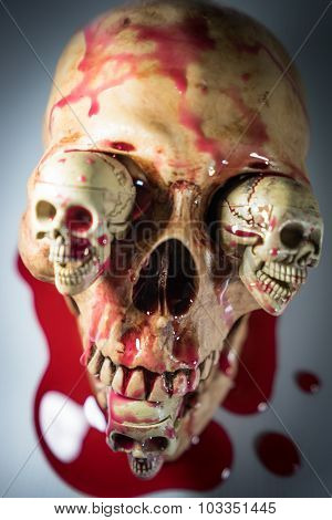 Skull HEAD HALLOWEEN FESTIVAL.