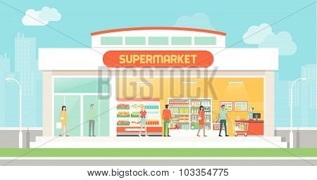 Supermarket Building And Interior