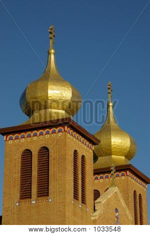 Church Steeples With Domes