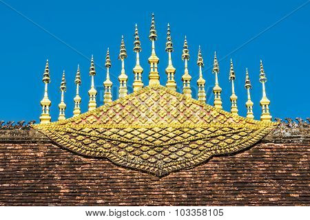 Temple roof decoration in Luang Prabang