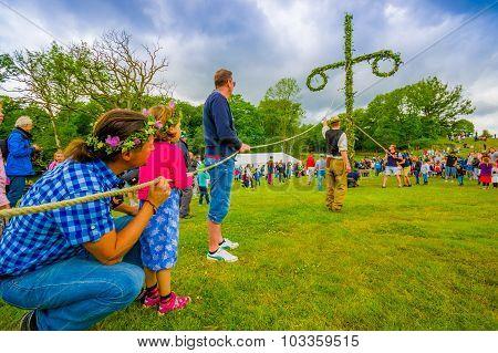 Midsummer Celebration In Gothemburg, Sweden