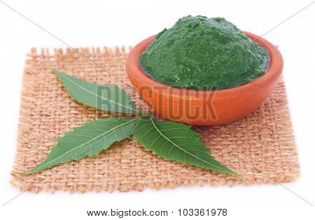 Medicinal Neem Leaves With Paste