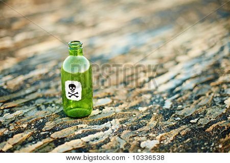 Green Glass Bottle From Poison