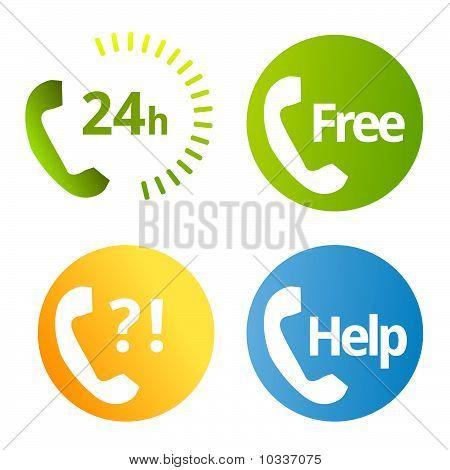 phone calls symbols vector