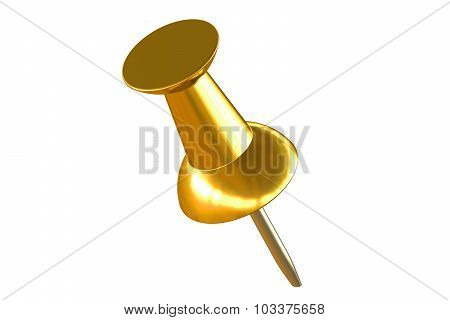 Gold Push Pin Closeup