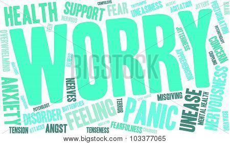 Worry Word Cloud