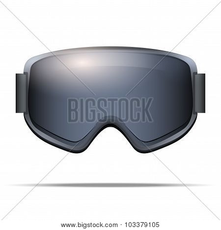 Classic snowboarding goggles with big glass