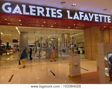 Galeries Lafayette at Dubai Mall in Dubai, UAE