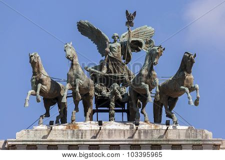 Quadriga Of The Palace Of Justice, Rome, Italy