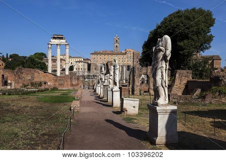 Courtyard Of The House Of The Vestal Virgins