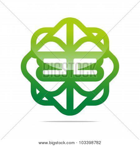 Logo Letter B abstract symbol