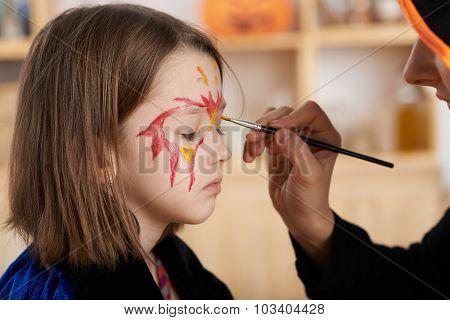 Getting Halloween make-up