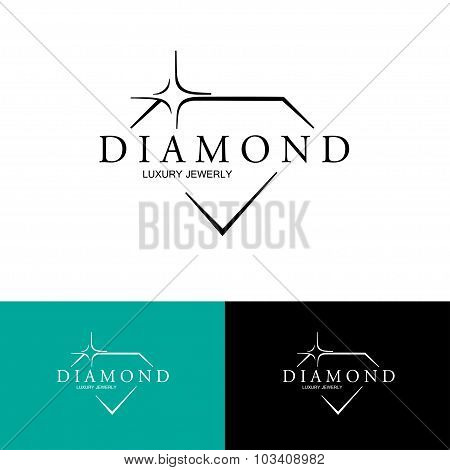 Icon Diamond. Vector Logo design.