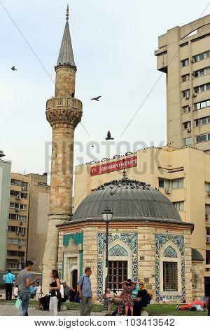 mosque on Konak square, Izmir, Turkey