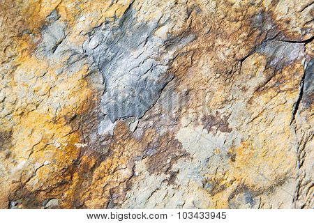 Rocks Stone And Red Orange Gneiss In The Wall   Morocco