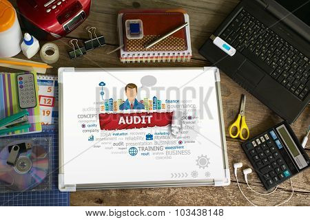 Audit Design Illustration Concepts For Business, Consulting, Finance