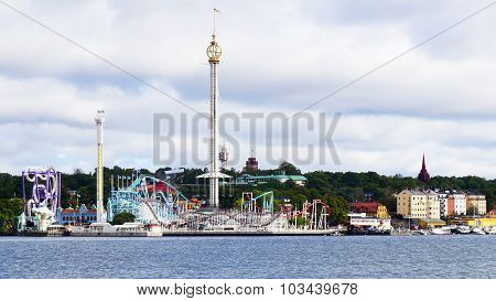 View Of Stockholm Theme Park