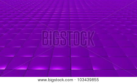 3D Abstract Purple Pattern Square Front