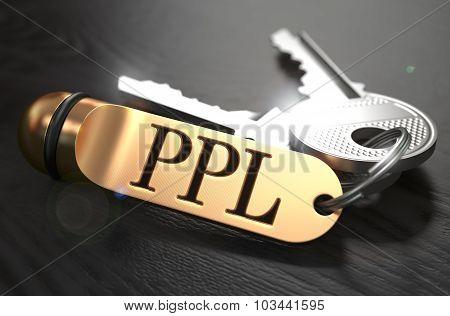 PPL written on Golden Keyring.