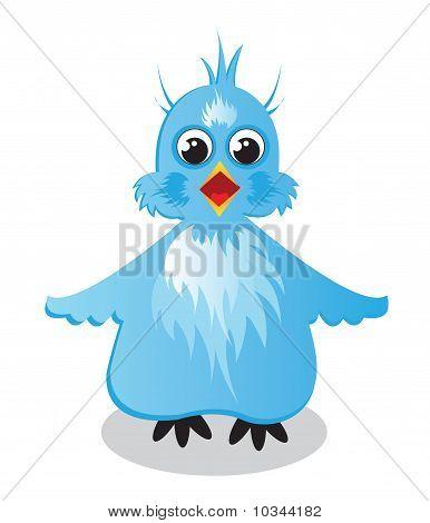 Der blaue Vogel-Illustration