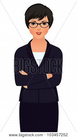 Young Asian Woman Businessman In Suit Isolated On White Background