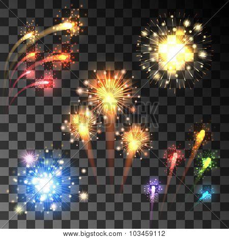Festive Bursting Firework Set
