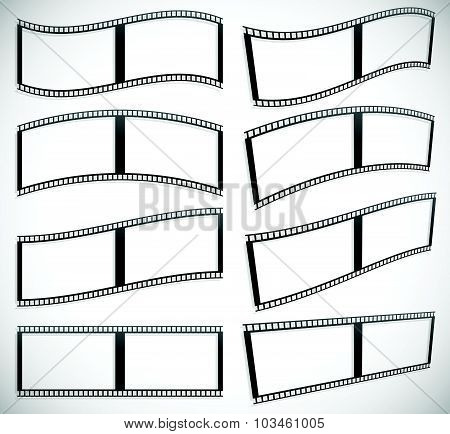 Film strip vector graphics for photography concepts poster
