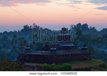 Temple In Mrauk U Archaeological Zone, Myanmar