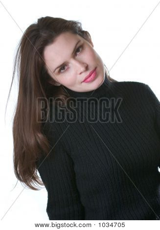 Brunette In Black Sweater