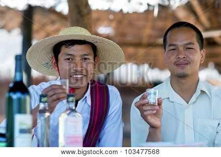 Intha Tribe Men, Myanmar