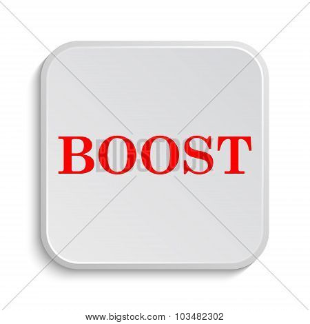 poster of Boost icon. Internet button on white background.