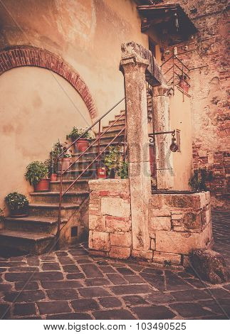 Antique Well In Tuscany