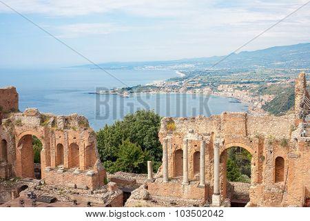 Taormina's Theater In Sicily