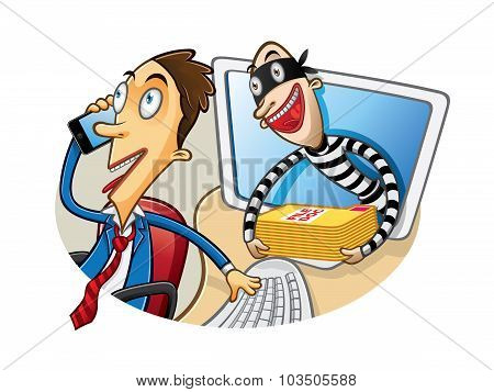 Cartoon Document Theft