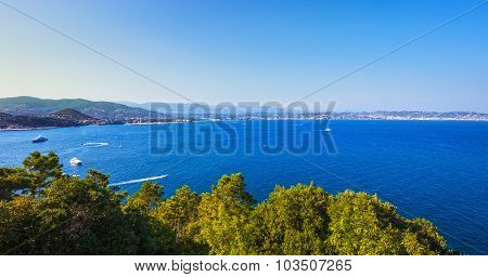 Cannes La Napoule Bay View. French Riviera, Azure Coast, Provence