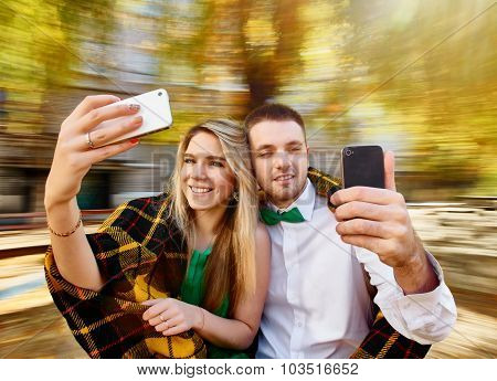 couple photos with mobile