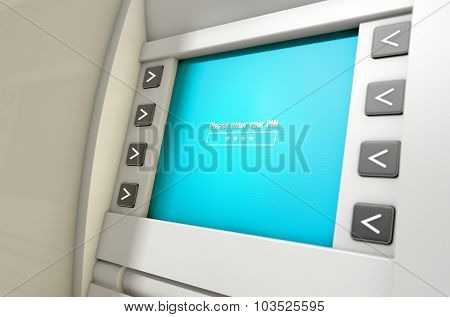 Atm Screen Enter Pin Code