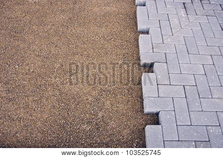 An Element Of Paving Of Sidewalk