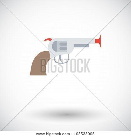 Gun toy icon.