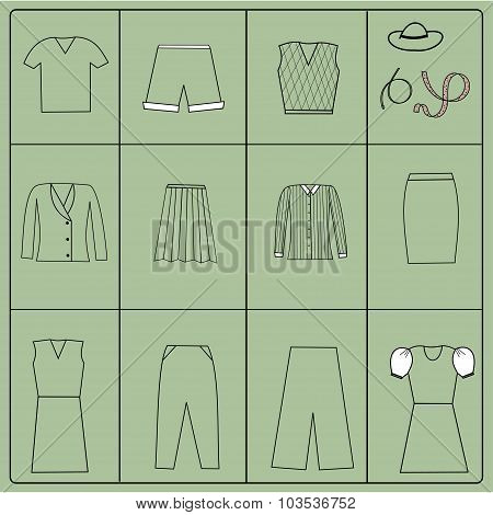 Cloth Collection - Vector Silhouette