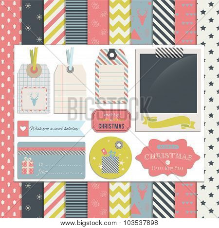 Christmas Scrapbook and Design Elements1