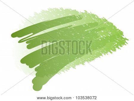 Banner Of Green Watercolor