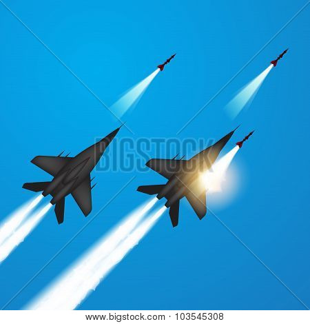 Fighter Jets Fired A Missiles