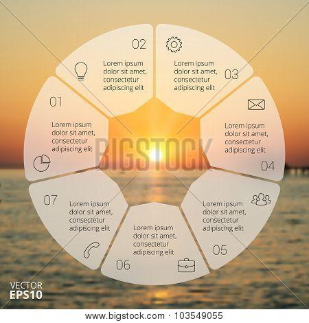 Circle line infographic.