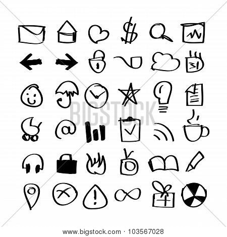 hand drawn icons pack