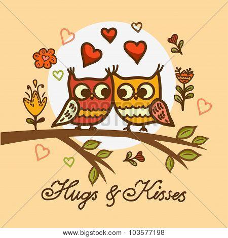 cute little owls pattern